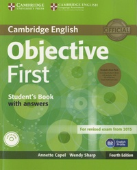 Annette Capel - Objective First - Student's Book with Answers. 1 Cédérom + 2 CD audio