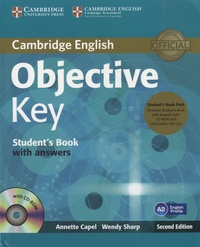 Annette Capel - Objective Key A2 - Student's Book with Answers. 1 Cédérom + 1 CD audio