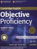 Annette Capel et Wendy Sharp - Objective Proficiency - Student's Book with Answers. 2 CD audio