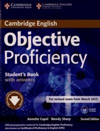Annette Capel et Wendy Sharp - Objective Proficiency - Student's Book with answers.