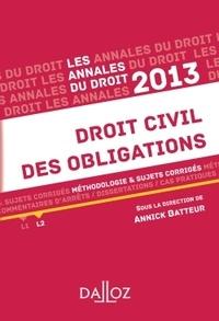 Annick Batteur - Droit civil des obligations - Méthologie et sujets corrigés.
