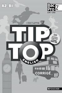 Annick Billaud - Tip-top english seconde Bac Pro corrigé.