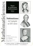 Annick Boisseau - Mathématiciennes (de l'Antiquité au XIXe siècle).