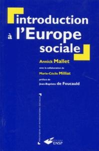 Annick Mallet - Introduction à l'Europe sociale.