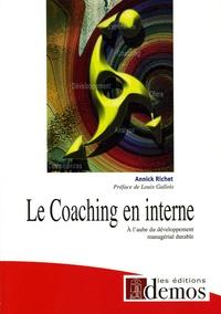 Annick Richet - Le Coaching en interne.