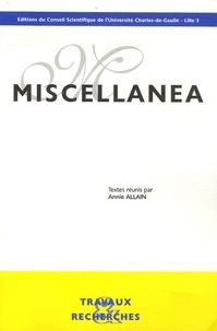 Annie Allain - Miscellanea.