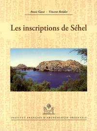Annie Gasse et Vincent Rondot - Les inscriptions de Séhel.