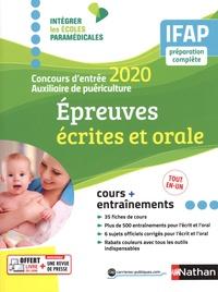 Annie Godrie et Christophe Ragot - Epeuves écrites et orale - Concours d'entrée auxiliaire de puériculture.