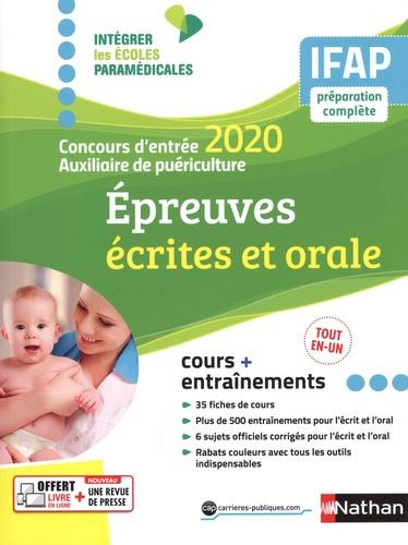 Epeuves écrites et orale. Concours d'entrée auxiliaire de puériculture  Edition 2020