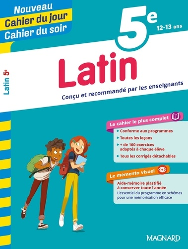 Cahier du jour/Cahier du soir Latin 5e + mémento  Edition 2019