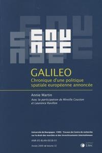 Annie Martin - Galileo - Chronique d'une politique spatiale européenne annoncée.