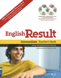 Annie McDonald et Mark Hancock - English Result - 2 Volumes, Intermediate Teacher's Book ; Photocopiable Resource Book. 2 DVD