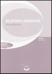 Annie Ruyer - Relations juridiques de crédit, de travail et de contentieux - Epreuve 2 du DECF Enoncé, édition 2004-2005.
