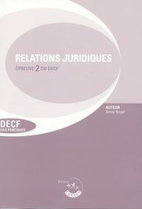 Annie Ruyer - Relations juridiques de crédit, du travail et de contentieux Epreuve 2 DECF Cas Pratiques - Enoncés, Edition 2005/2006.