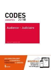 Anonyme - Audience - Judiciaire 2018 - A jour au 1er septembre 2018.