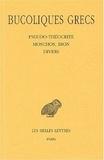 Anonyme - Bucoliques grecs - Tome 2, Pseudo-Théocrite, Moschos, Bion, divers..