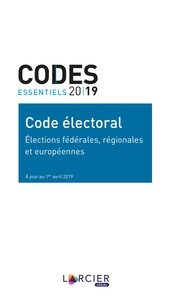 Anonyme - Code électoral - Élections fédérales, régionales et européennes.