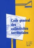 Anonyme - Code général des collectivités territoriales.
