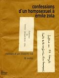 Anonyme - Confessions d'un homosexuel à Emile Zola.