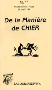 Histoiresdenlire.be De la manière de chier - Dissertation sur un ancien usage lue dans l'Académie de Troyes le 28 mai 174 Image