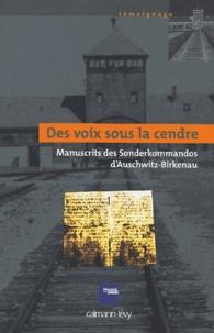 Anonyme - Des voix sous la cendre - Manuscrits des Sonderkommandos d'Auschwitz-Birkenau.