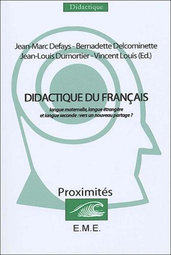 Didactique Du Francais Langue Maternelle Langue Etrangere Et Langue Seconde Vers Un Nouveau Partage