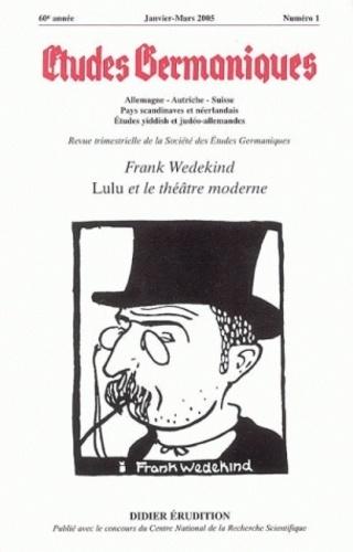 Anonyme - Etudes Germaniques, n°1, 2005.