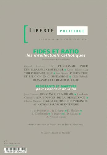 Anonyme - Fides et ratio - Les intellectuels catholique.
