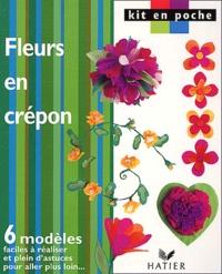 Anonyme - Fleurs en crépon.