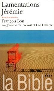 Anonyme - La Bible - Lamentations Jérémie.