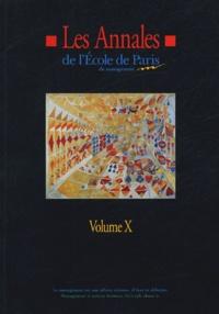 Anonyme - Les Annales de l'Ecole de Paris du management - Volume 10, Travaux de l'année 2003.
