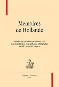 Anonyme - Memoires de Hollande.
