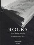 Anonyme - Rolea - Recueil de textes anonymes poitevins du XVIIe siècle, édition bilingue français-poitevin.