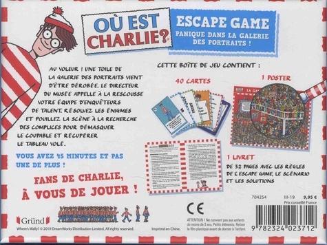 Escape game Où est Charlie ?. Avec 40 cartes et 1 poster