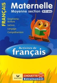 Activités de Français Moyenne Section 4/5 ans - Graphisme-écriture, lecture, compréhension, langage.pdf