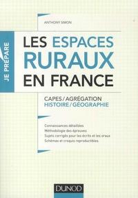 Les espaces ruraux en France- Capes/Agrégation Histoire/Géographie - Anthony Simon pdf epub