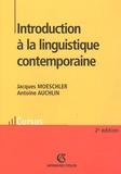 Antoine Auchlin et Jacques Moeschler - Introduction à la linguistique contemporaine.