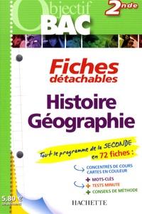 Antoine Auger - Fiches détachables Histoire-Géographie 2nde.