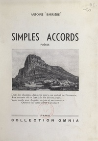 Antoine Barriere - Simples accords.