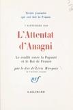 Antoine de Lévis-Mirepoix - L'attentat d'Anagni - Le conflit entre la papauté et le roi de France, 7 septembre 1303.