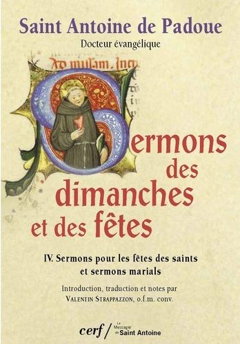Sermons des dimanches et des fêtes T04 - Sermons pour les fêtes des saints et Sermons marials.