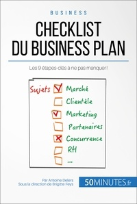 Antoine Delers et  50Minutes.fr - Gestion & Marketing  : Checklist du business plan - Les 9 étapes-clés à ne pas manquer !.