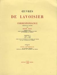Antoine-Laurent de Lavoisier - Oeuvres de Lavoisier - Correspondance Tome 1, 1763-1769.
