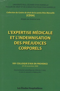 Galabria.be L'expertise médicale et l'indemnisation des préjudices corporels - VIIIe colloque d'Aix-en-Provence Image