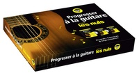 Antoine Polin et Mark Philipps - Progresser à la guitare pour les nuls - Coffret en 3 volumes : Exercices à la guitare pour les nuls ; Accords de guitare pour les nuls ; Improviser à la guitare pour les nuls.