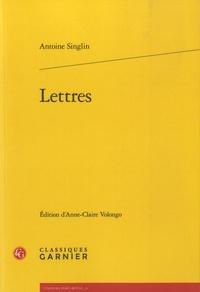 Antoine Singlin - Lettres.