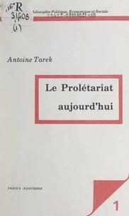 Antoine Tarek et  Centre de philosophie politiqu - Le prolétariat aujourd'hui.