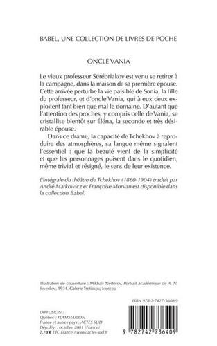 Oncle Vania  édition revue et corrigée