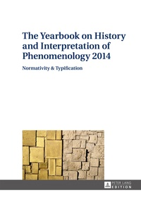 Anton Vydra - The Yearbook on History and Interpretation of Phenomenology 2014 - Normativity & Typification.