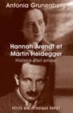 Antonia Grunenberg - Hannah Arendt et Martin Heidegger - Histoire d'un amour.